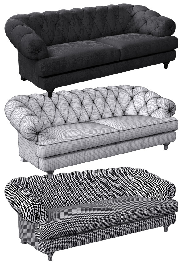 Sofa classic - 3DOcean Item for Sale