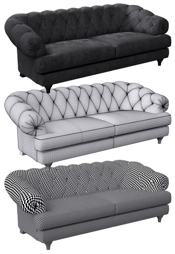 3DOcean Sofa classic 7729802