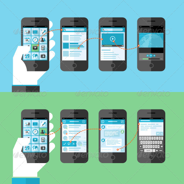 GraphicRiver Concepts for Smart Phone Services and Apps 7729820