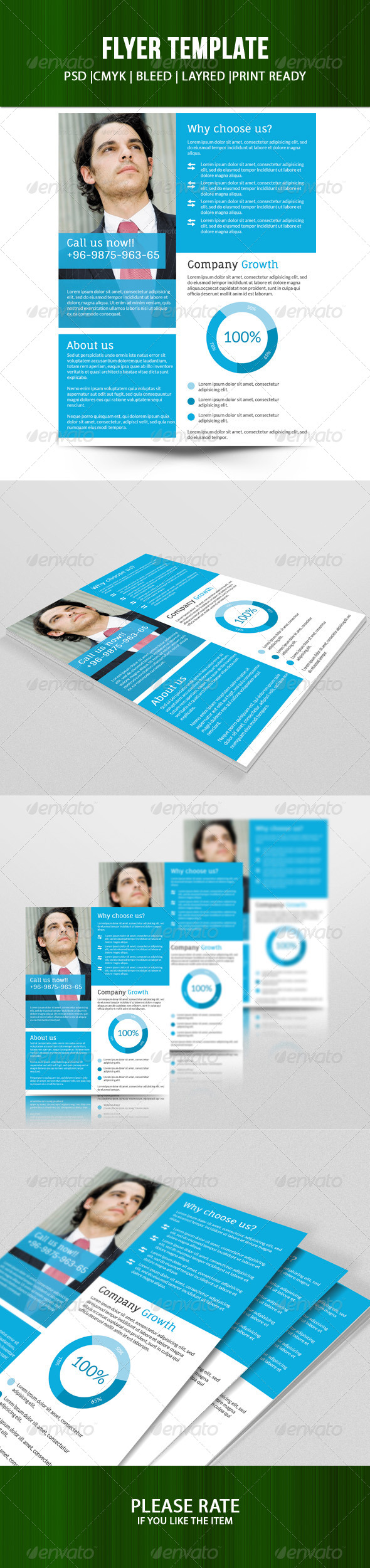GraphicRiver Fresh Multipurpose Business Flyer 7729915