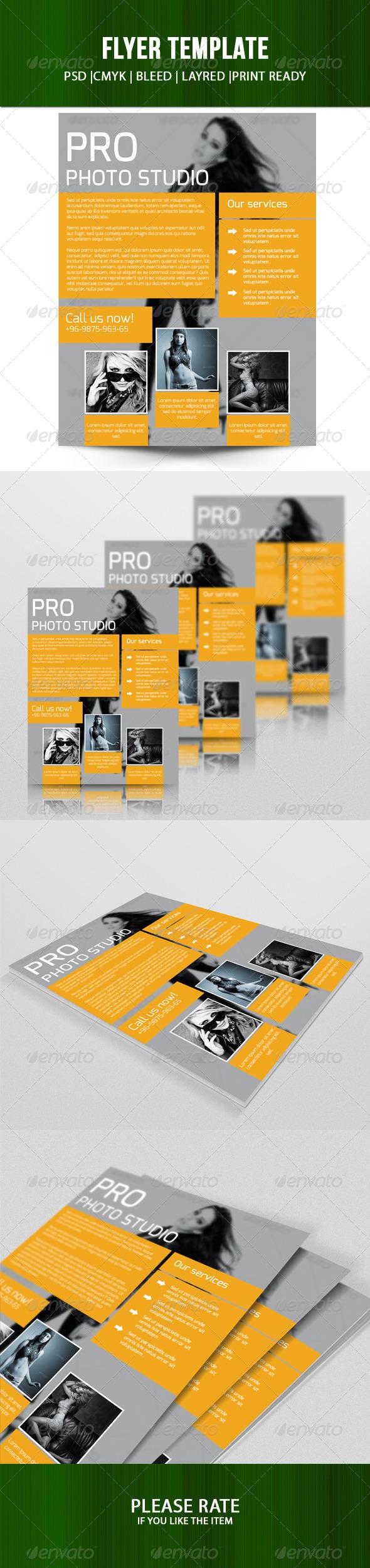 GraphicRiver Pro Photo Studio Flyer 7729919