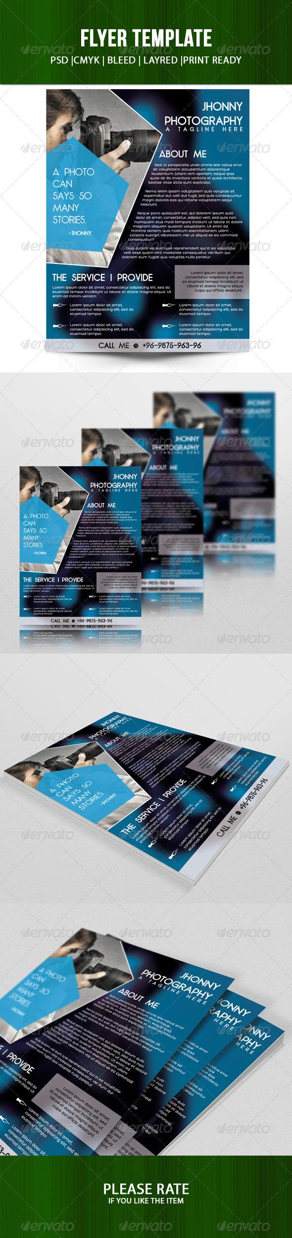 GraphicRiver Creative Photographer Flyer 7729927