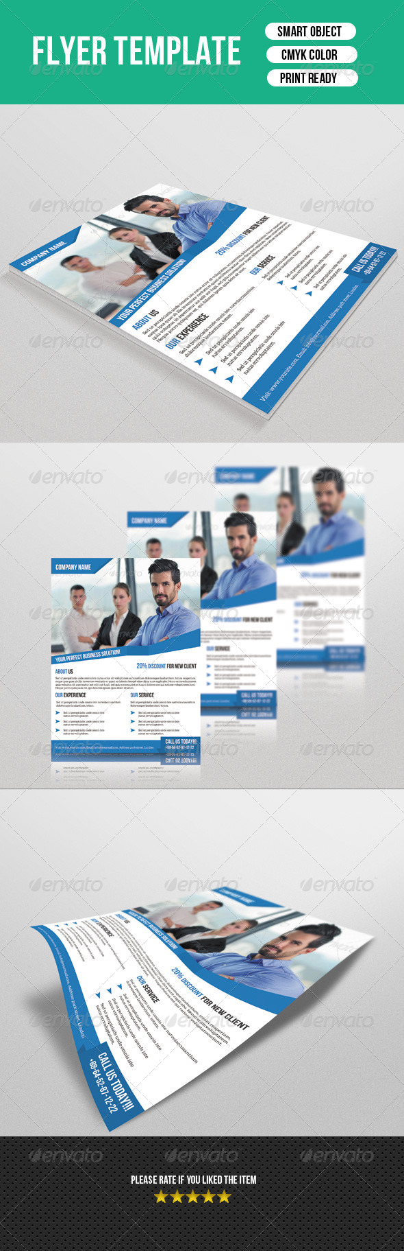 GraphicRiver Clean Business Flyer 7729931