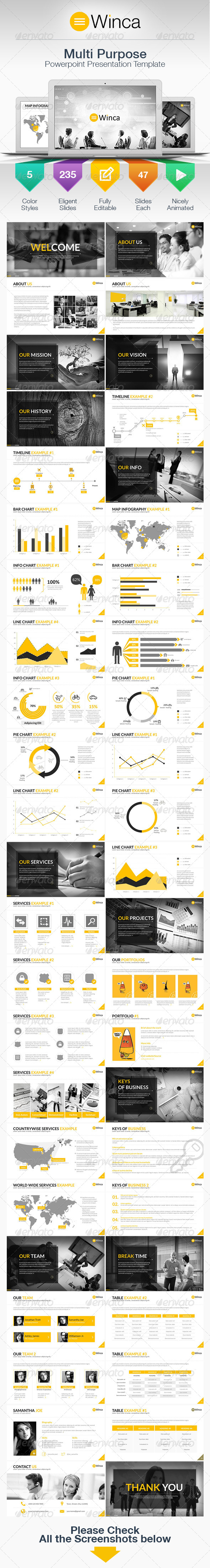GraphicRiver Winca Multipurpose Business Power Point Template 7719793