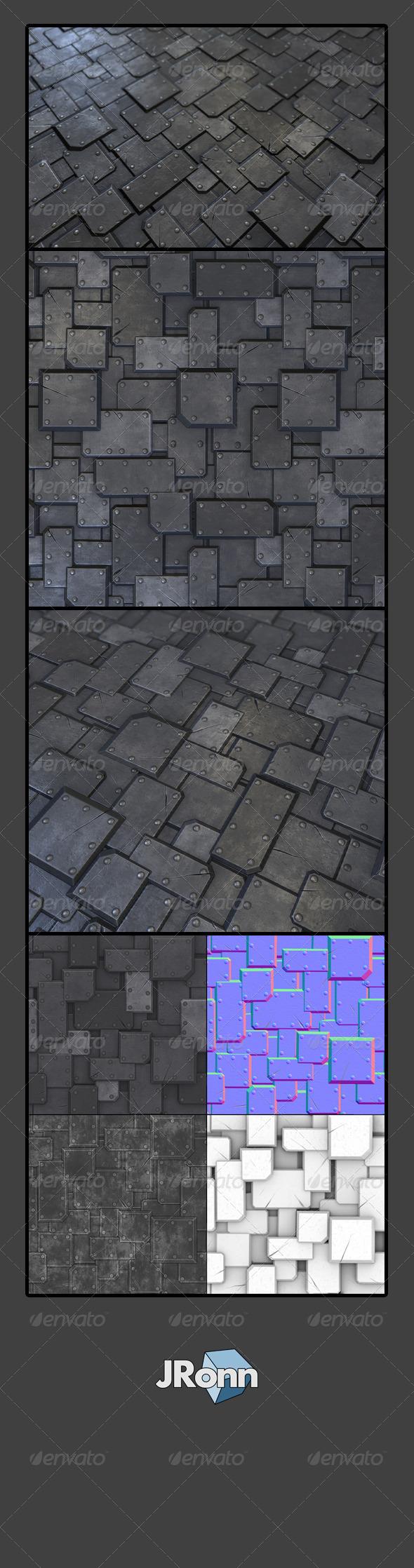 3DOcean Metal Plate Tile 02 7730836