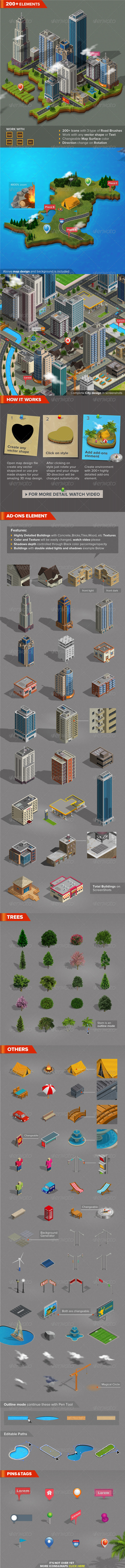 GraphicRiver 3D City and Map Generator 7688347
