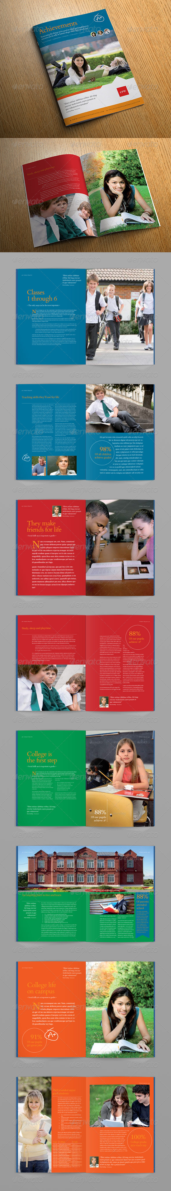 Achievements Brochure - Brochures Print Templates