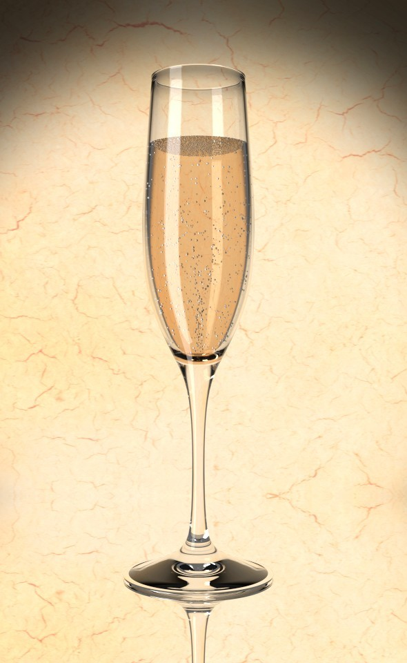 3DOcean Champagne Glas 7731238