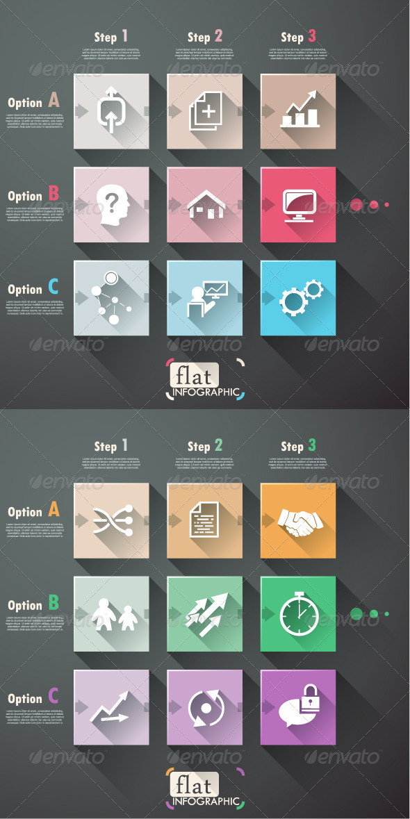 GraphicRiver Minimal Flat Infographic Template With Icons 7731369