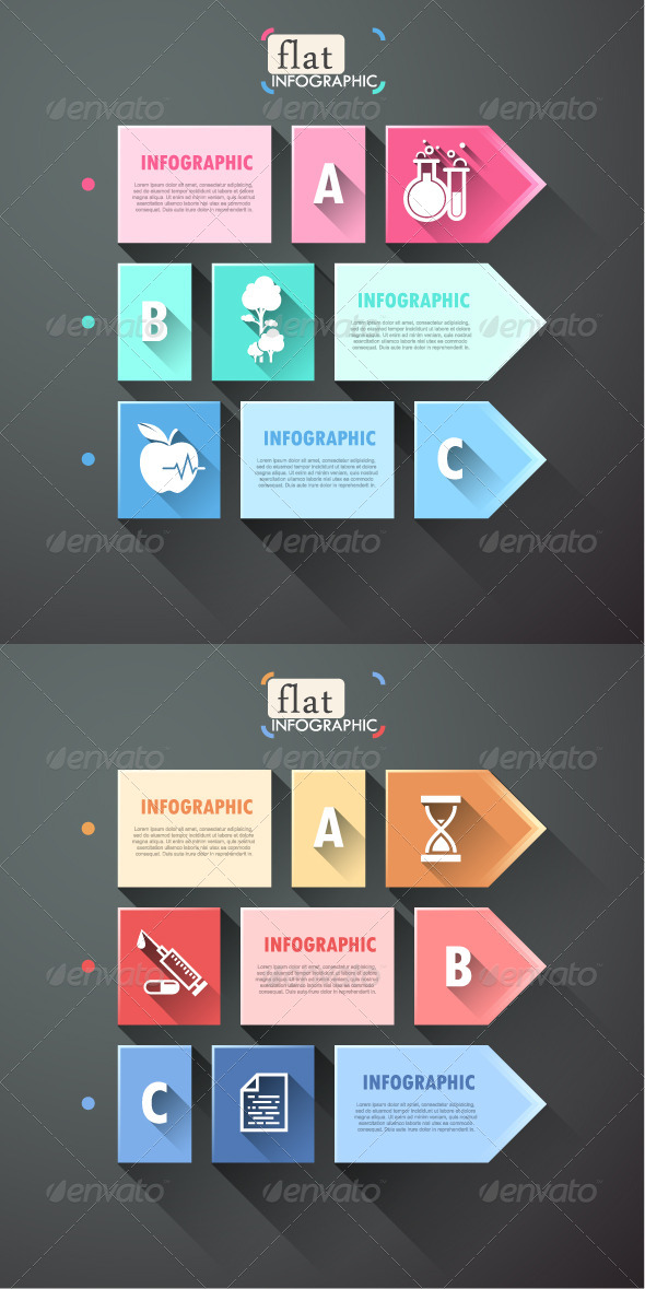 GraphicRiver Flat Infographic Options Banner 2 Versions 7731395