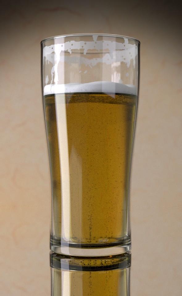 3DOcean Beer Glas 7731404