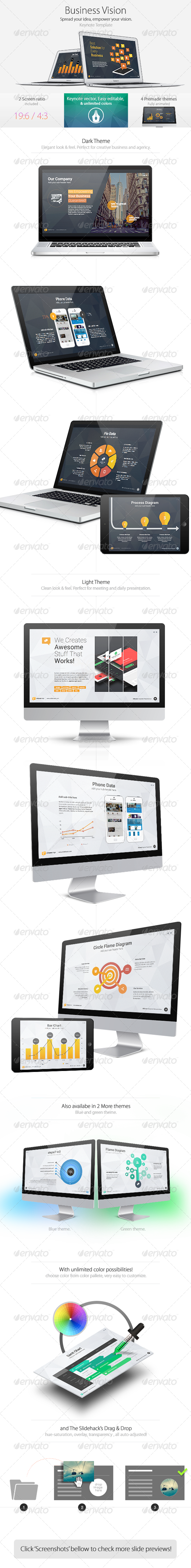 GraphicRiver Business Vision Keynote Template 7731540