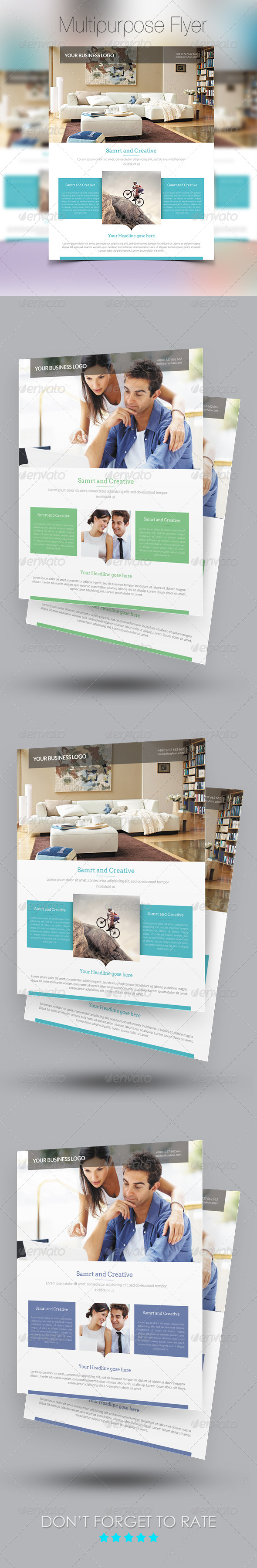 GraphicRiver Multipurpose Busienss Flyer Template 7731651