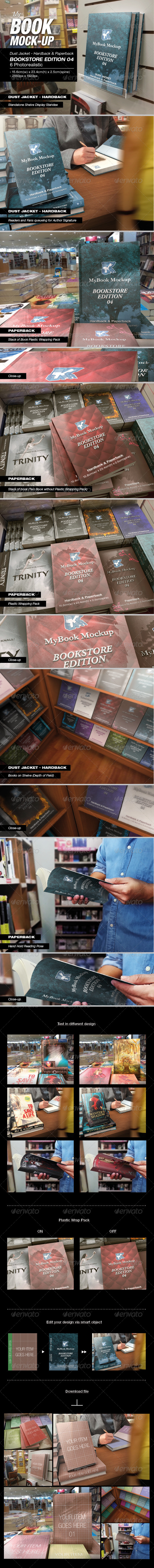 GraphicRiver MyBook Mock-up Bookstore Edition 04 7731739