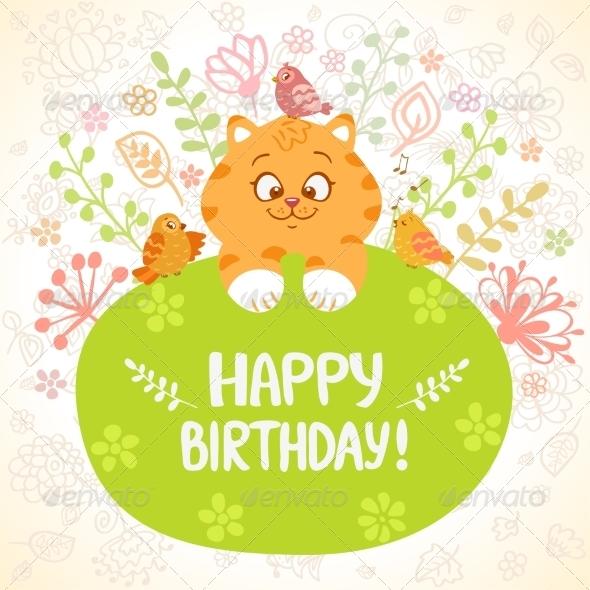 GraphicRiver Kitten Birthday 7731796
