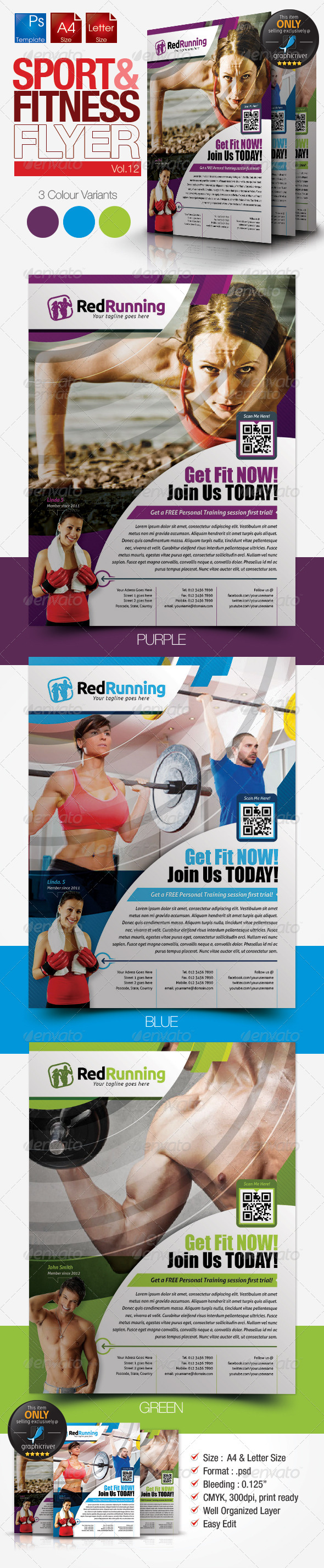 GraphicRiver Fitness Flyer Vol.12 7731837