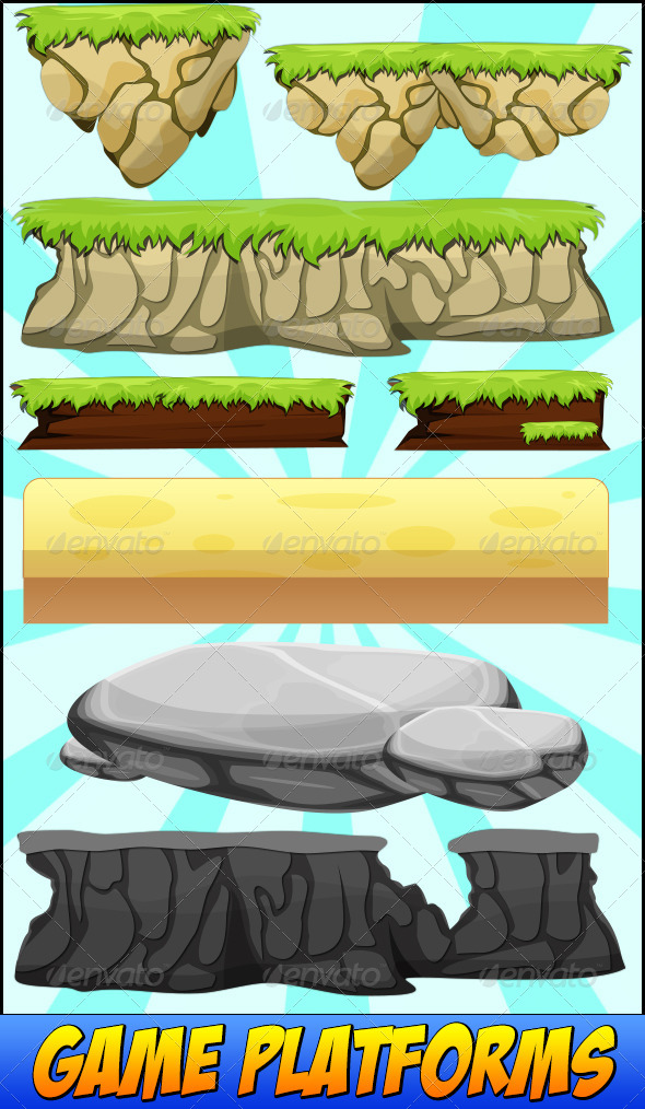 GraphicRiver Vector Game Platforms 7731844