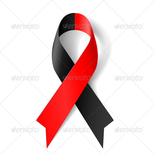 GraphicRiver Red and Black Ribbon 7731867