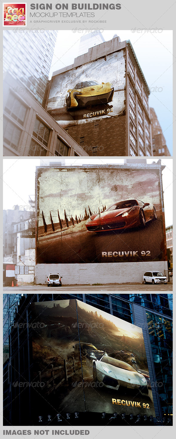 GraphicRiver Sign on Buildings Mockup Templates 7725044