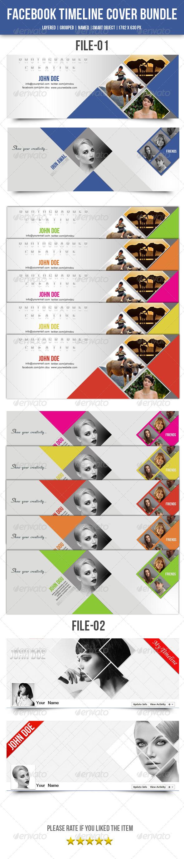 GraphicRiver Facebook Timeline Cover Bundle 7732331