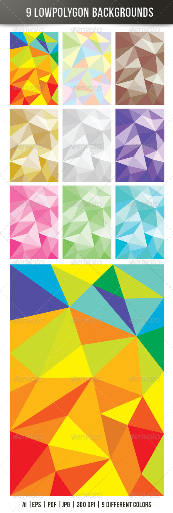 GraphicRiver Low Polygon Backgrounds 7732503
