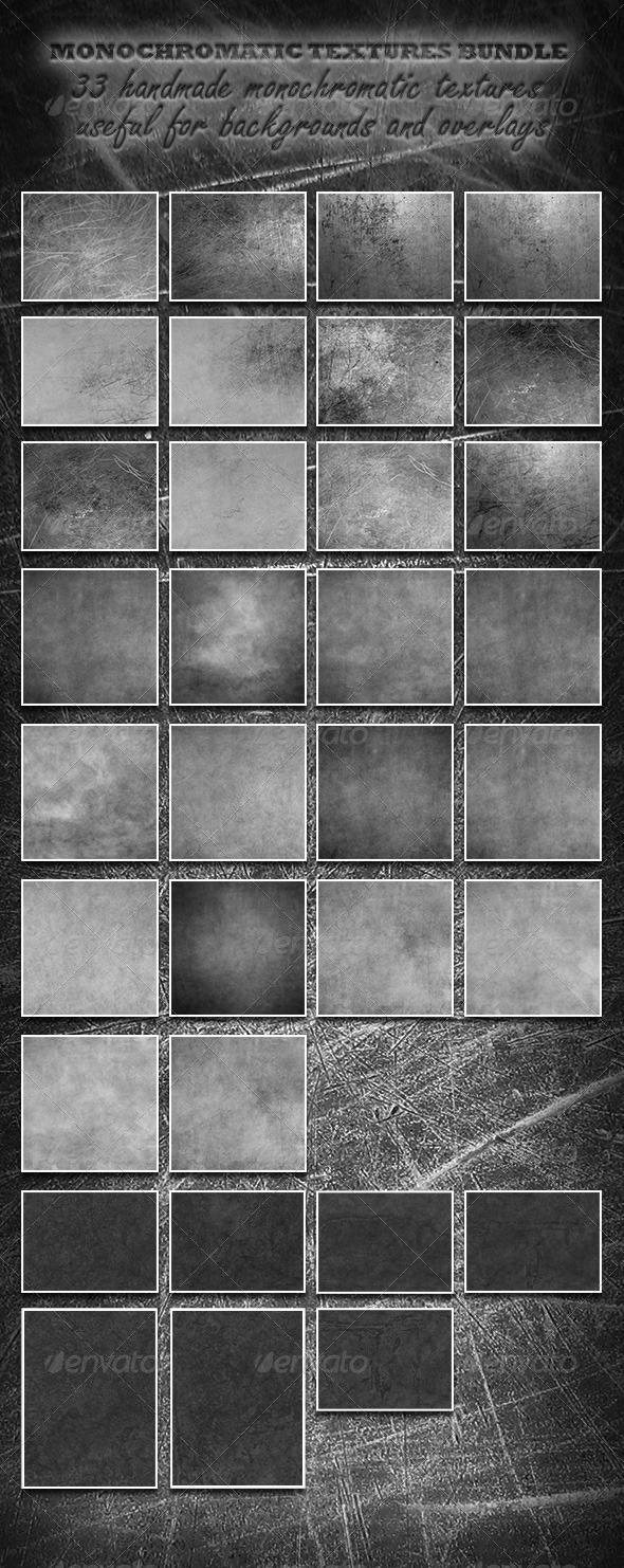GraphicRiver Monochromatic Textures Bundle 7732640