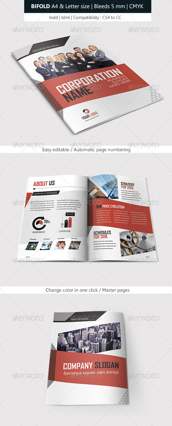 GraphicRiver Bifold Business Brochure Modern Template 7732644