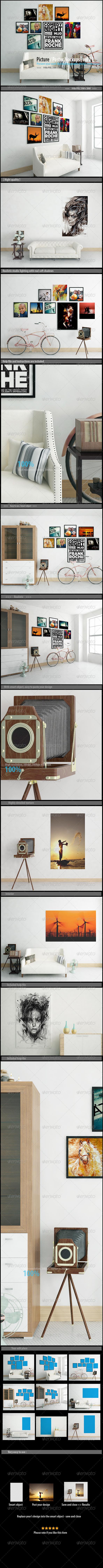 GraphicRiver Picture Poster Mockups [vol 2] 7720356