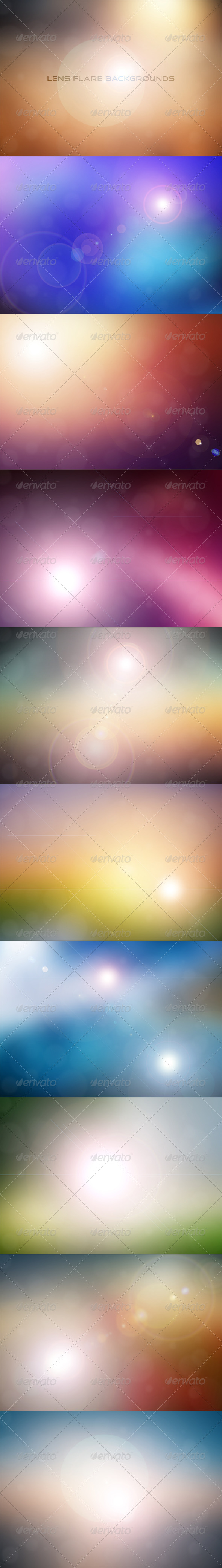 GraphicRiver Lens Flare Backgrounds 7732730