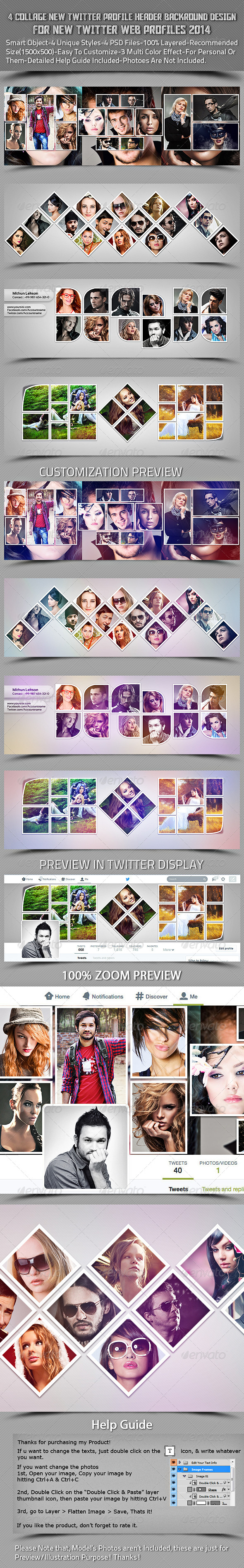 GraphicRiver 4 Collage New Twitter Profile Header Backround 7732752