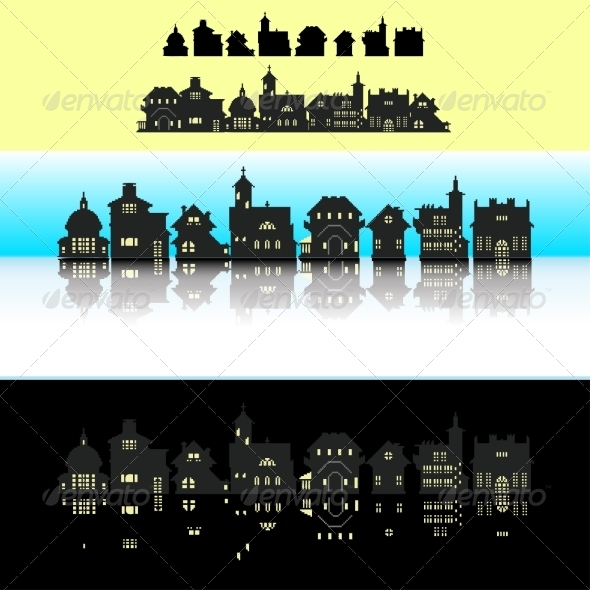 GraphicRiver Set of Small Building 7733132