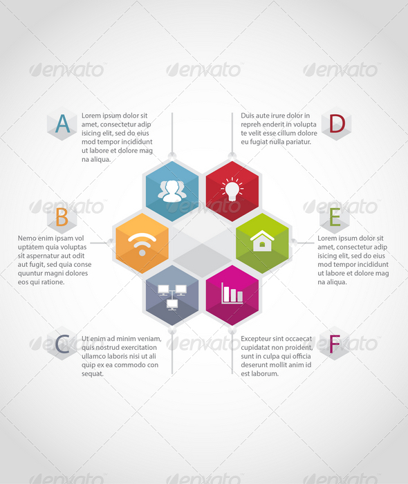GraphicRiver Hexagon Infographic Template 7733518