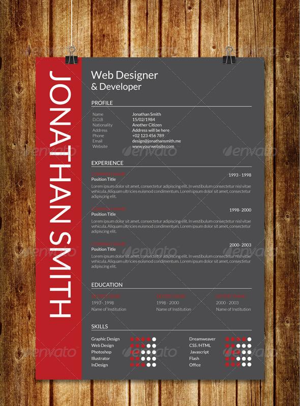 GraphicRiver Modern Resume V1 7733559