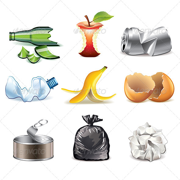 GraphicRiver Garbage Icons 7733663