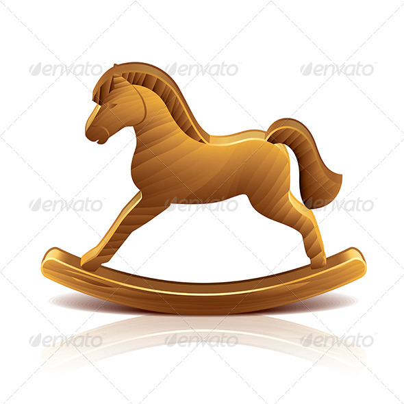 GraphicRiver Wooden Rocking Horse 7733900