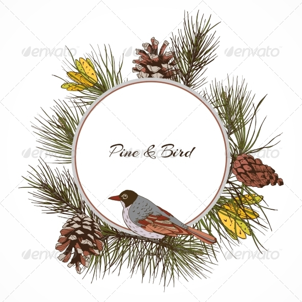 GraphicRiver Pine Branch 7733997