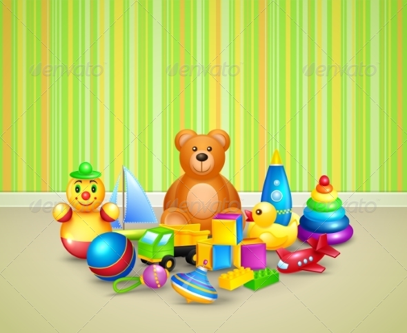 GraphicRiver Play Room Background 7734004