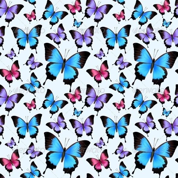 GraphicRiver Butterflies Seamless Pattern 7734034