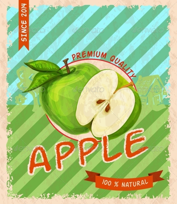 GraphicRiver Apple Retro Poster 7734064