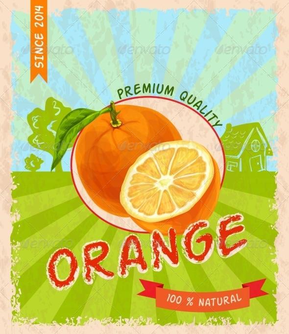 GraphicRiver Orange Retro Poster 7734067