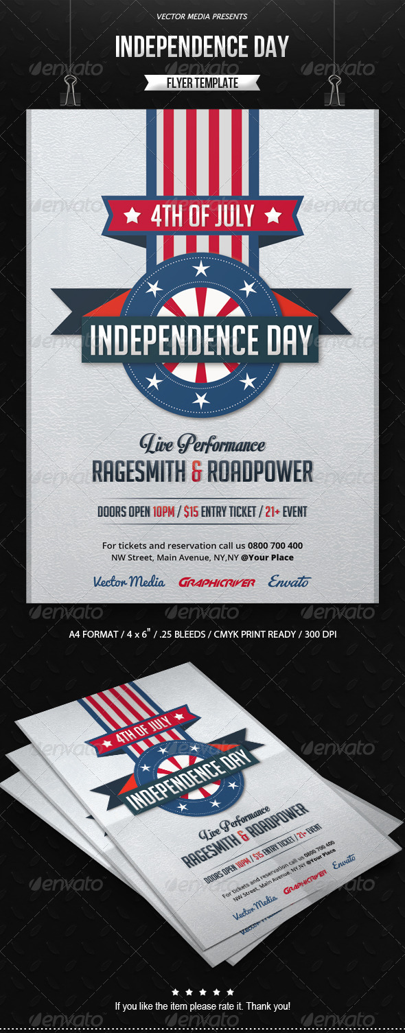 GraphicRiver Independence Day Flyer 7734188