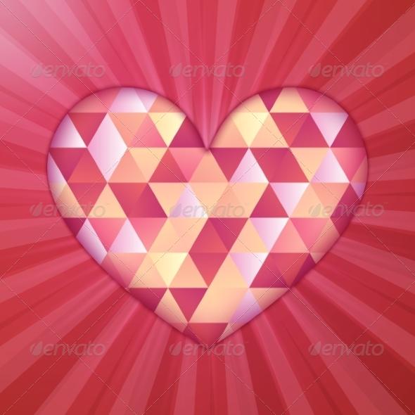 GraphicRiver Diamond Heart 7734236