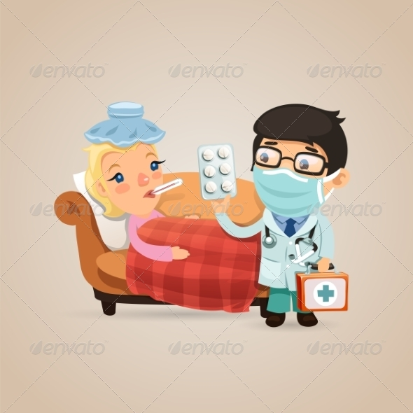 GraphicRiver Doctor Visits a Sick Woman 7734238