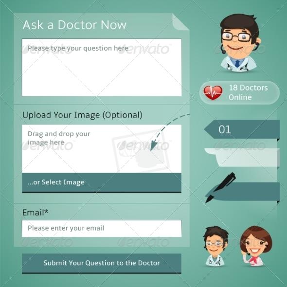 GraphicRiver Doctors Online Consultation Form 7734246