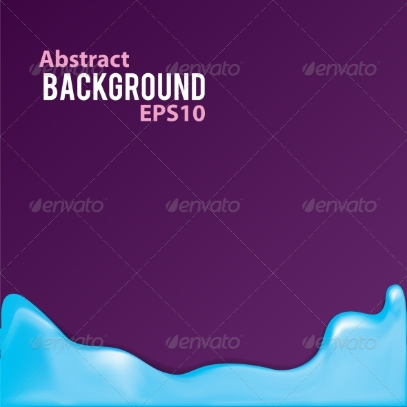 GraphicRiver Abstract Background with Liquid Frame 7734405