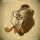 Vintage Card Hipster Animal Camel with Pipe - GraphicRiver Item for Sale