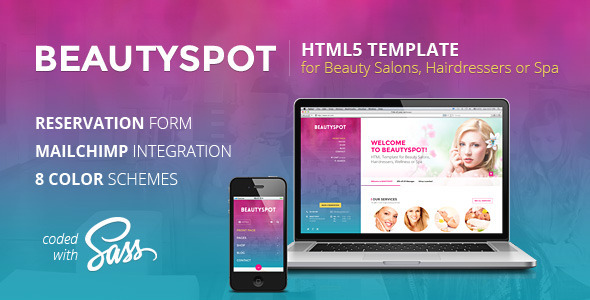 ThemeForest BeautySpot HTML Template for Beauty Salons 7734629