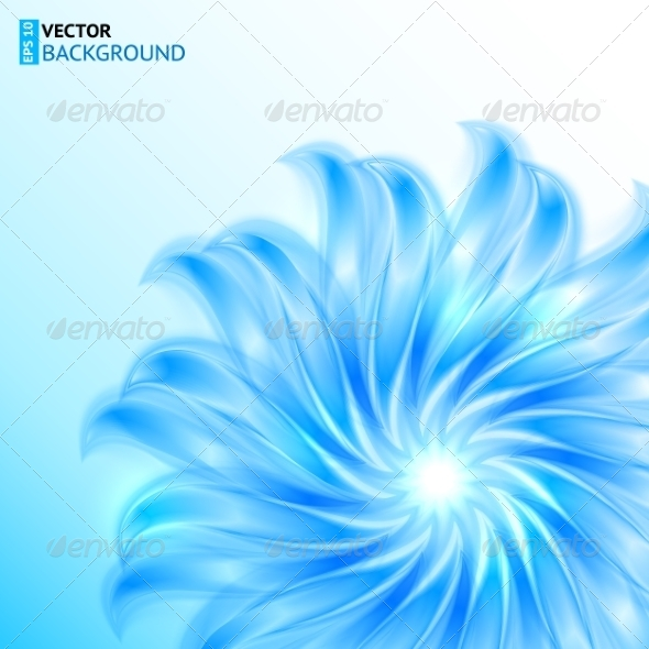 GraphicRiver Blue Shining Abstract Flower 7734697