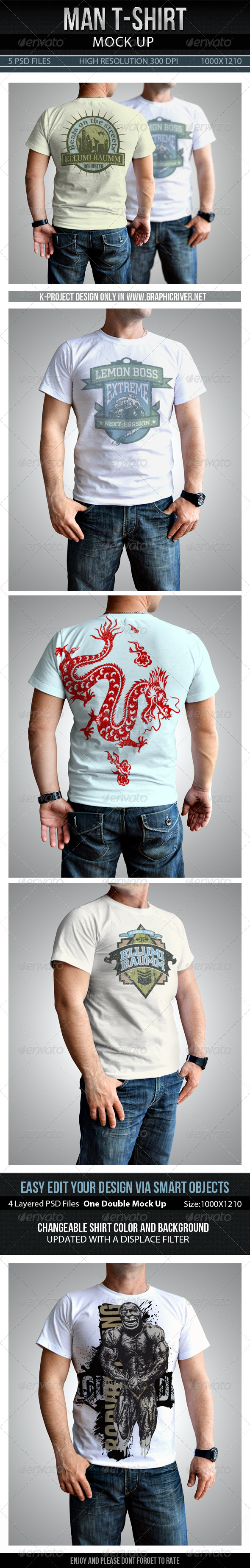 GraphicRiver Man T-Shirt Mock Up 7735043