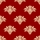 Red and Beige Floral Seamless Pattern - GraphicRiver Item for Sale